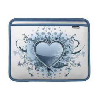 "Blue Emo Heart 13"" MacBook Sleeve"
