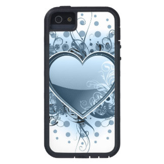 Blue Emo Heart iPhone 5 Cases