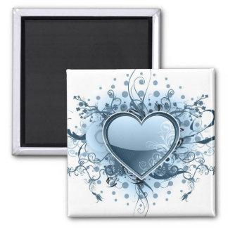 Blue Emo Heart  Magnet Refrigerator Magnet