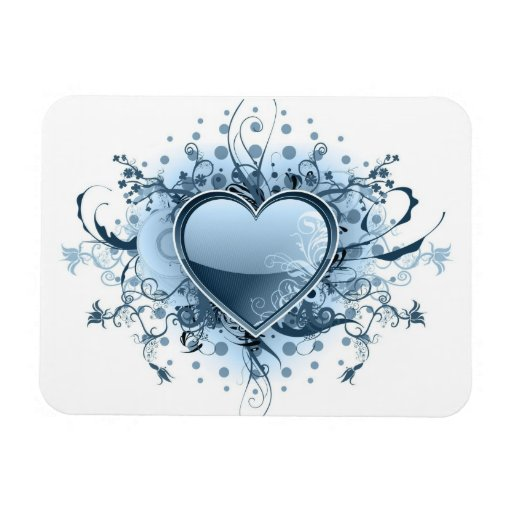 Blue Emo Heart Premium Magnet Rectangular Magnet