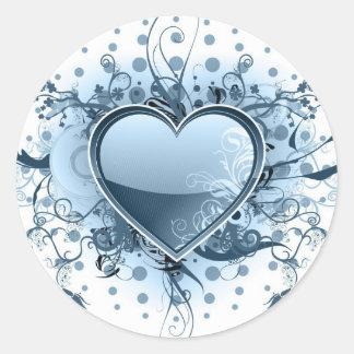 Blue Emo Heart  Sticker
