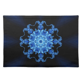 Blue enamel fibula placemats