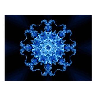 Blue enamel fibula postcard