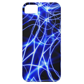 Blue Energy Lines, Fantasy Blue Flash iPhone 5 Cases