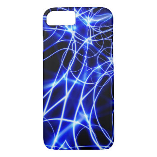 Blue Energy Lines, Fantasy Blue Flash iPhone 7 Case