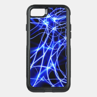 Blue Energy Lines, Fantasy Blue Flash OtterBox Commuter iPhone 7 Case