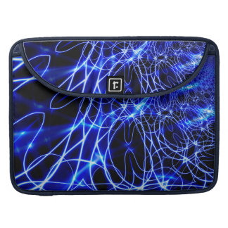 Blue Energy Lines, Fantasy Blue Flash Sleeve For MacBook Pro
