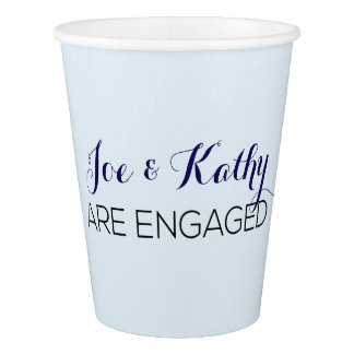 Blue Engagement Party Cups