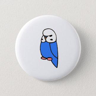 Blue English Budgie 6 Cm Round Badge