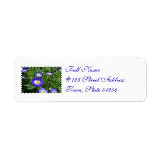 Blue Ensign Morning Glory Flowers Return Address Label