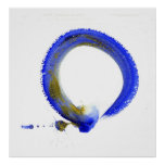 Blue Enso Poster
