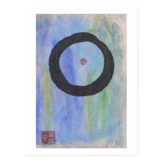 Blue Enso (Zen Circle) of Tranquility Postcard