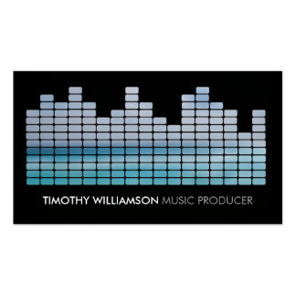 Blue Equalizer Musician, DJ, Band Business Card