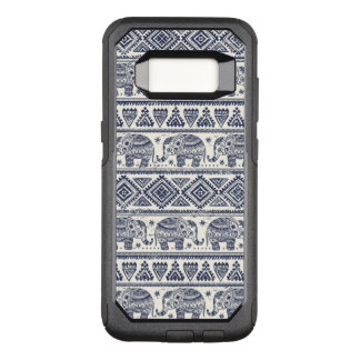 Blue Ethnic Elephant Pattern OtterBox Commuter Samsung Galaxy S8 Case