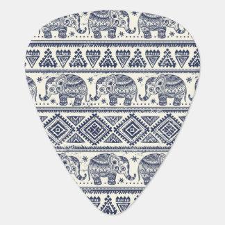 Blue Ethnic Elephant Pattern Plectrum