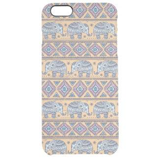 Blue Ethnic Elephant Tribal Pattern