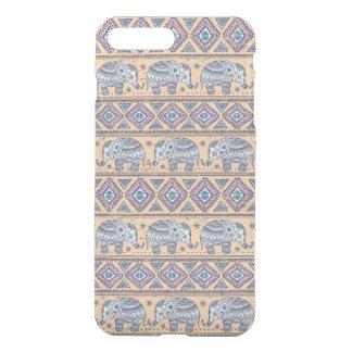 Blue Ethnic Elephant Tribal Pattern iPhone 7 Plus Case