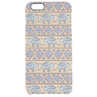 Blue Ethnic Elephant Tribal Pattern Uncommon Clearly™ Deflector iPhone 6 Plus Case