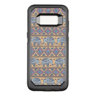 Blue Ethnic Elephant Tribal Pattern OtterBox Commuter Samsung Galaxy S8 Case