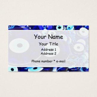 Blue Evil Eye amulets Business Card