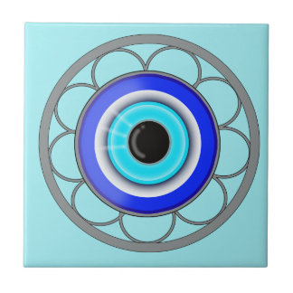Blue Evil Eye Repels Negative Energy - Small Square Tile