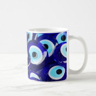 Blue Evil Eye souvenir sold in Istanbul Turkey Coffee Mug