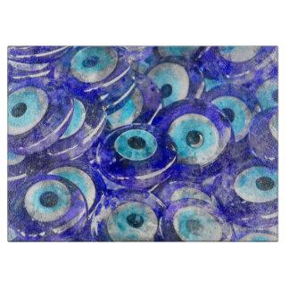 Blue Evil Eye souvenir sold in Istanbul Turkey Cutting Board