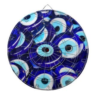 Blue Evil Eye souvenir sold in Istanbul Turkey Dartboard