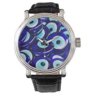 Blue Evil Eye souvenir sold in Istanbul Turkey Watch