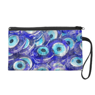 Blue Evil Eye souvenir sold in Istanbul Turkey Wristlet Clutches