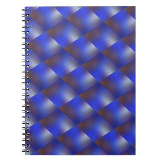 Blue examined notebook