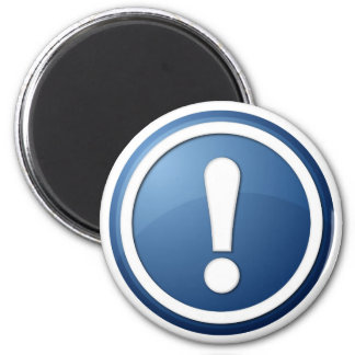 blue exclamation point button magnets