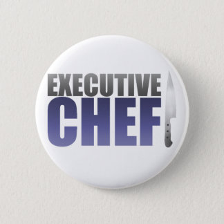 Blue Executive Chef 6 Cm Round Badge