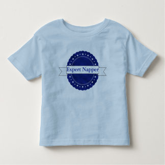Blue Expert Napper Badge Toddler T-Shirt