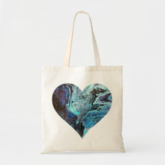 Blue Explosion Heart Tote