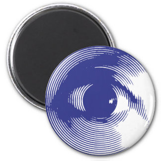 Blue eye 6 cm round magnet