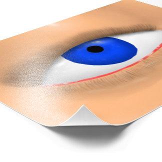 Blue Eye Art Photo