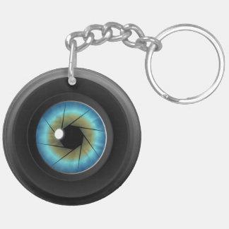 Blue Eye Camera Lens Double Sided Acrylic Keychain