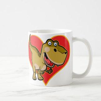 Blue eye Dino Basic White Mug