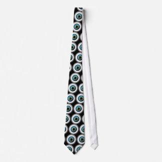 Blue Eye Eyeballs Cool Custom NeckTies Tie