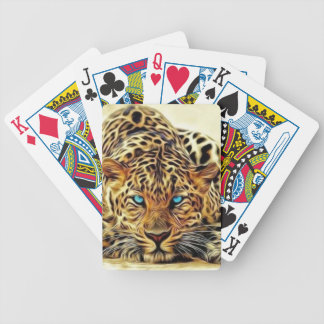 Blue Eye Leopard Bicycle Playing Cards