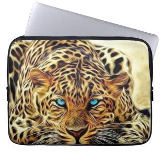 Blue Eye Leopard Laptop Sleeve