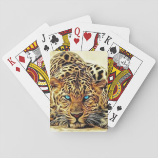 Blue Eye Leopard Playing Cards