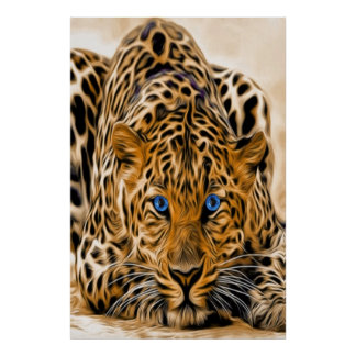 Blue Eye Leopard Poster