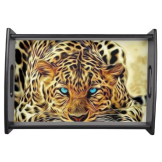 Blue Eye Leopard Serving Tray