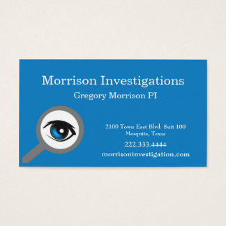 Blue Eye Private Investigation Business Card