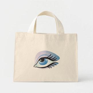 blue eye mini tote bag