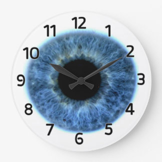 Blue Eye Wall Clock