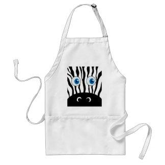 Blue eye zebra standard apron