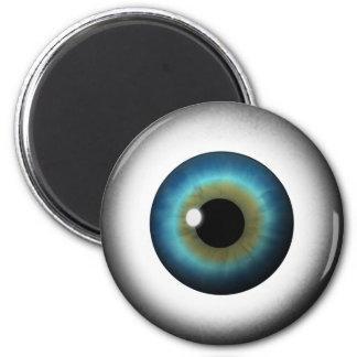 Blue Eyeball Iris Eye Cool Custom Round Magnets